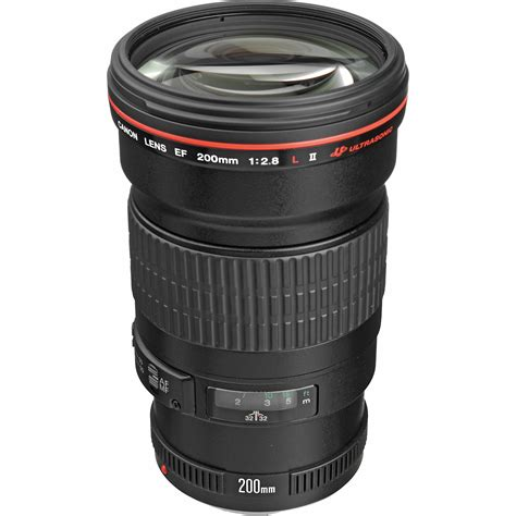 canon ef 200mm f 2 8l ii usm lens 2529a004 b h photo