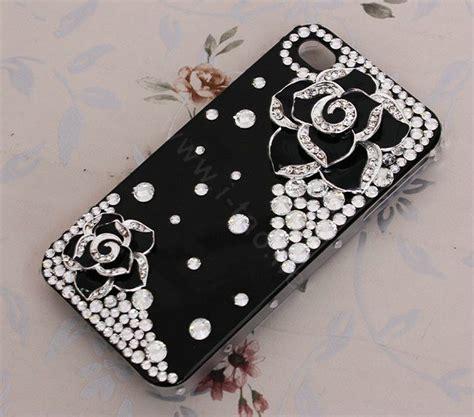 Casing Handphone Flower Pattern Iphone 44s55s buy wholesale bling black alloy flower camellia