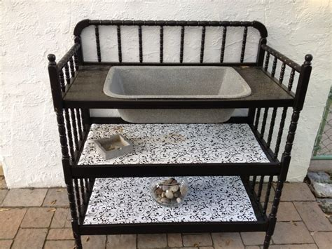 changing table with sink old changing table and vintage sink re purposed into a dry