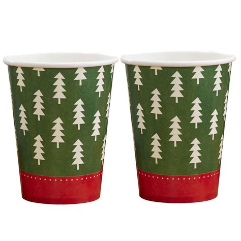 pattern paper cup christmas tree pattern paper cups by ginger ray