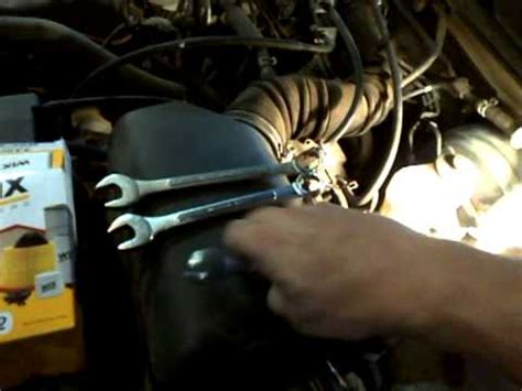 toyota camry fuel filter replacement youtube