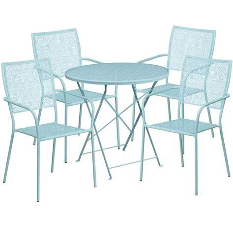 flash furniture 30 quot sky blue indoor outdoor steel