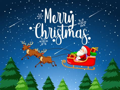 merry christmas santa sleigh   vectors clipart graphics vector art