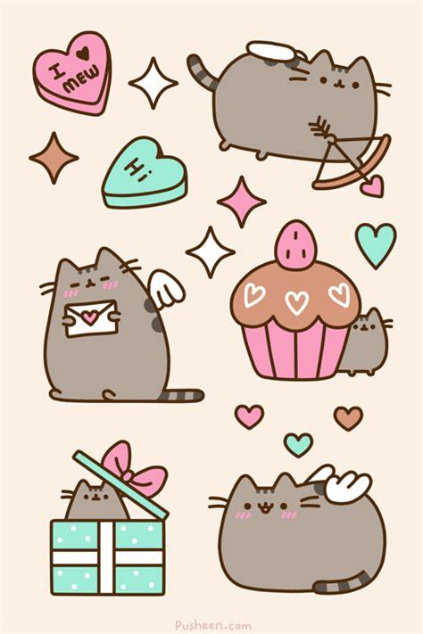 kawaii valentines day photo pusheen the cat true pusheen