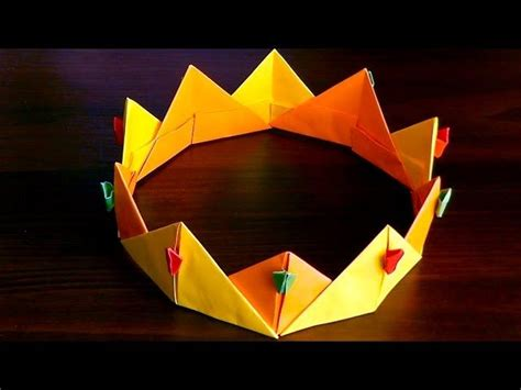 Origami Paper Crown - 1000 images about origami clothes accessories on