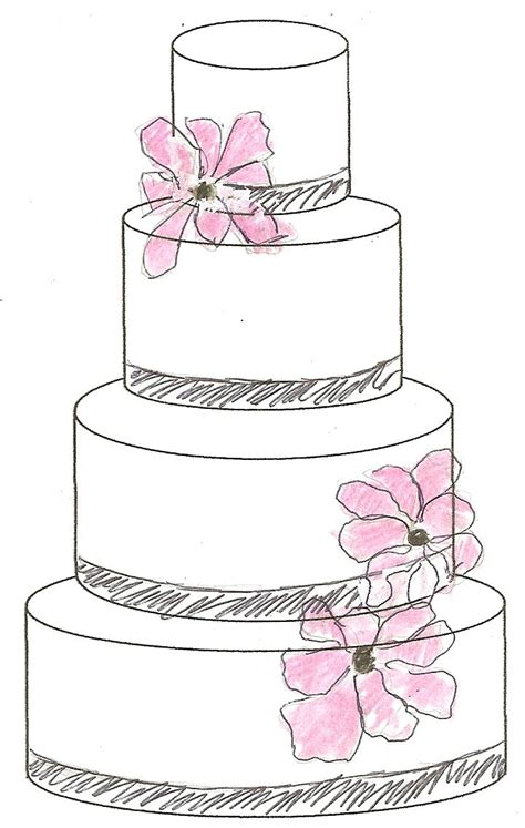 Hochzeitstorte Zeichnung by Cake Sketch The Sketches