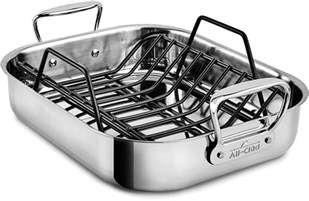 Small Roasting Pan With Rack by All Clad Stainless Roasting Pan With Rack E752s264