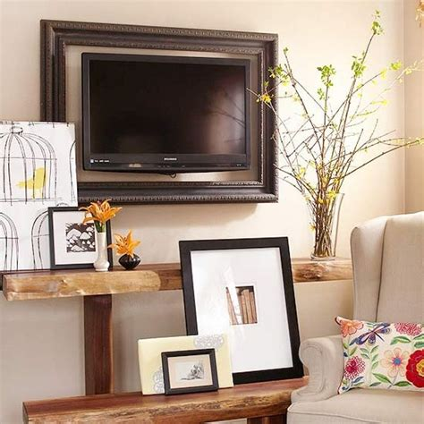 home decor tv tv frame ideas frame your tv and blend it in the home