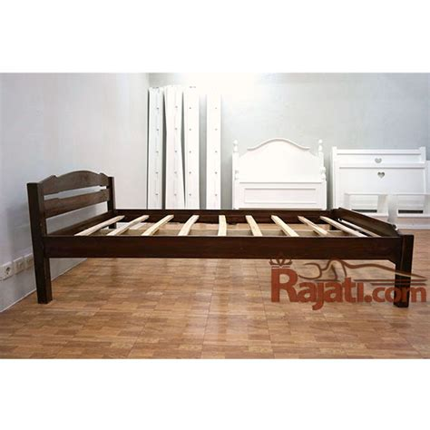 Tempat Tidur Kayu Jati Ukuran 120 jual beli tempat tidur ranjang kayu jati 120x200 rajati