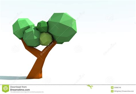 3d Tree Origami - 3d origami paper tree royalty free stock image image