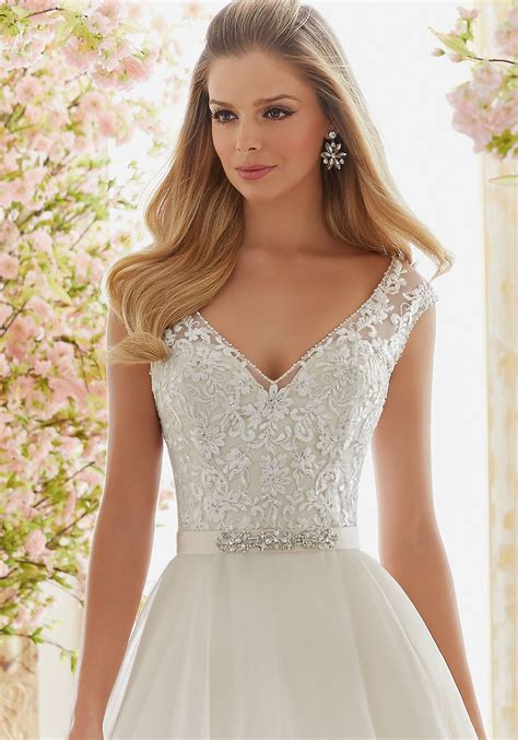 Wedding Dresses Accessories by Beaded Satin Belt Morilee