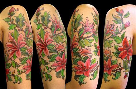 lily quarter sleeve tattoo wendi koontz lily half sleeve