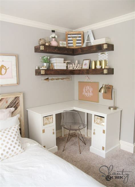 Diy Corner Desk Shanty 2 Chic Bloglovin Diy Corner Desk
