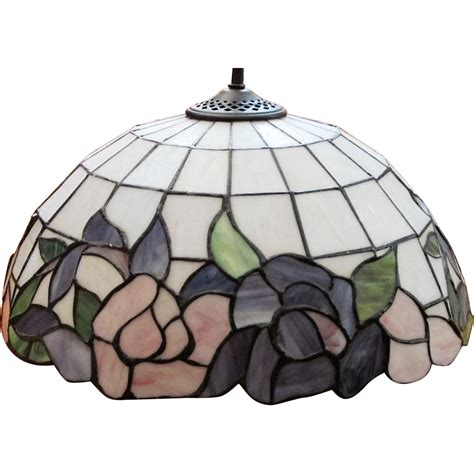 slag glass l shade slag leaded stained glass l shade 190 panels from