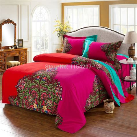 Moroccan Bed Sets Funda Nordica Bohemian Bedding Set Boho Style Bedclothes Moroccan Bed Duvet Cover 100 Brushed