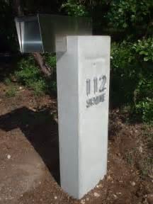 cement mailbox concrete planters