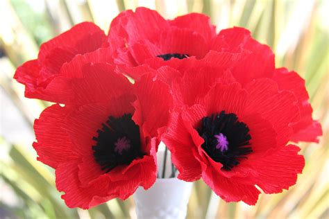 How To Make Paper Poppy Flowers - poppy flower part 1 weneedfun