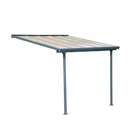 home depot awnings clearance palram feria 10 ft x 10 ft grey patio cover awning