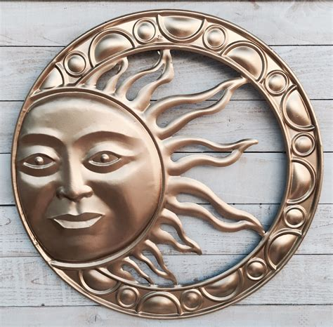 sun garden rustic metal wall decor wall hanging gold by tuscaniron