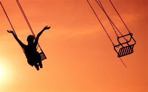 swing wallpaper wallpaper happy mood happy swing alone sunset