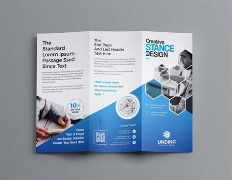 Custom Brochure Templates by Aphrodite Business Tri Fold Brochure Template 001201