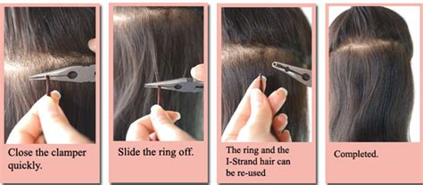 how to remove hair extensions without solution how to apply and remove u strand i strand hair extensions