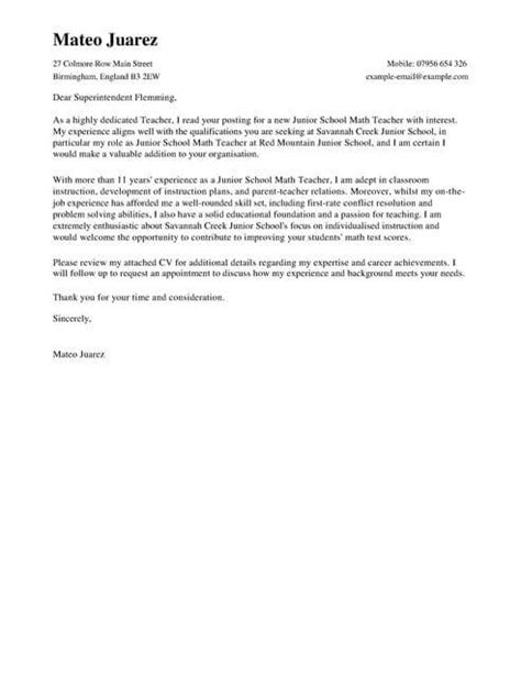 covering letters for teaching jobs cover letter template cover letter templates