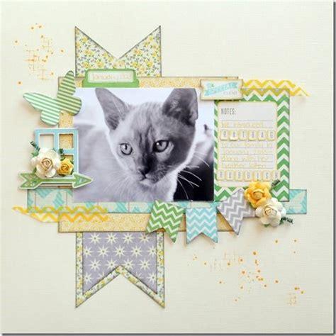 scrapbook layout cat 420 best scrapbooking pet layouts images on pinterest