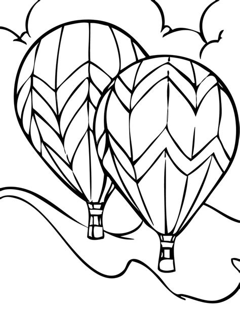 balloon coloring pages free printable air balloon coloring pages for