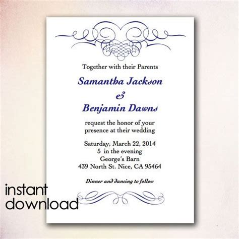 wedding invitation diy template 24 best images about diy wedding invitation templates