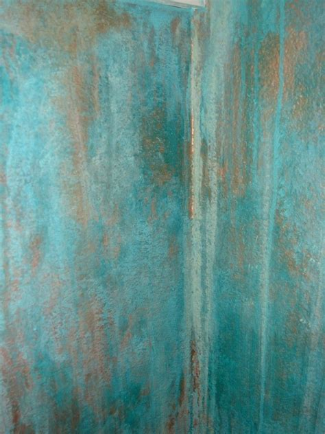 modern copper patina wall finish  amber cunningham