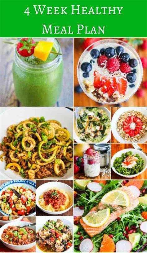 Food Healthy Diet 4 week healthy meal plan jeanette s healthy living