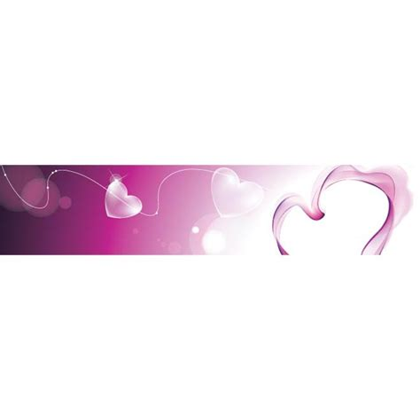 banner design love abstract glossy pink heart love banner design by cgvector