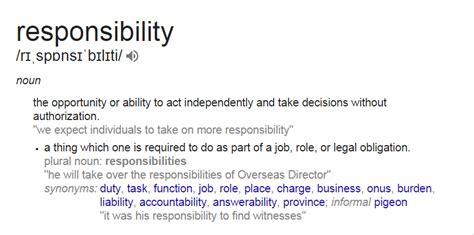 Responsibility Definition Essay by Responsibility Definition Essay