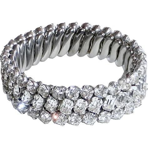 Rhinestone Bracelet sparkling rhinestone 3 row stretch bracelet from