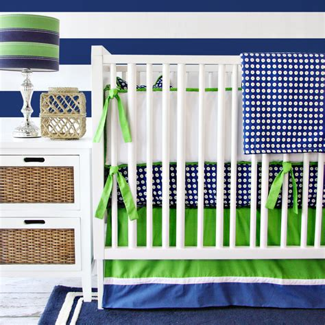 Green And Blue Crib Bedding Giveaway Caden Crib Bedding Set Project Nursery