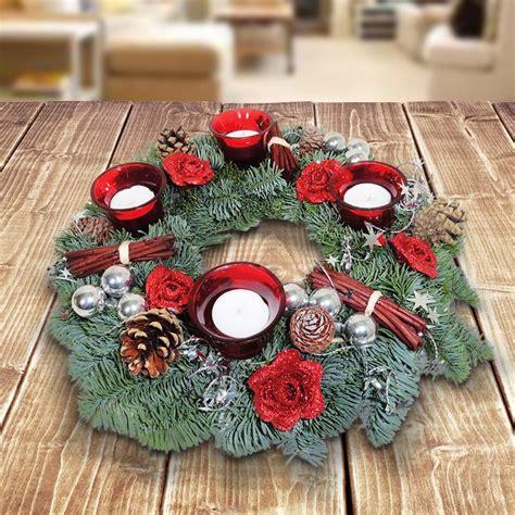 wann ist der erste advent adventskranz rot silber