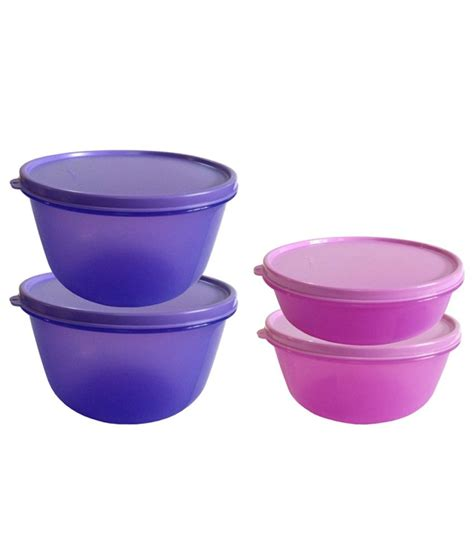 Purple Tupperware by Tupperware Purple And Pink Polypropylene 5000 Ml Container