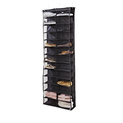 simplify 26 shelf the door shoe rack in black 25195