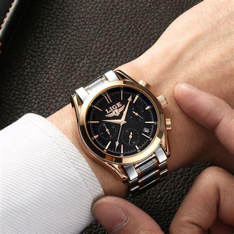 lige fashion chronograph sport mens luxury watches