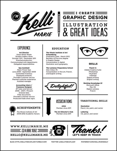 types of graphic design layout 10 excellent exles of creative resumes the chic
