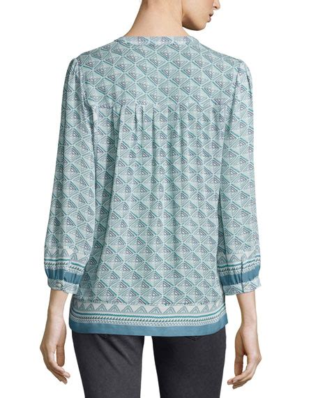 Jesslyn Dress joie jesslyn 3 4 sleeve printed top seaweed