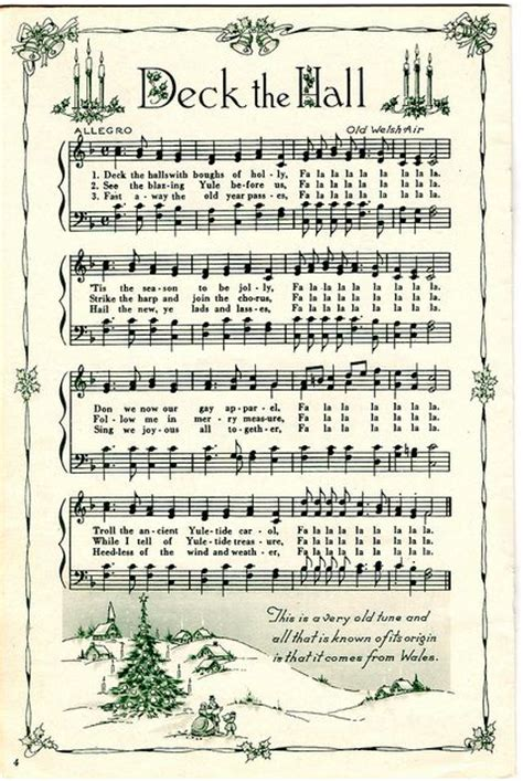 printable christmas carols sheet music christmas pinterest