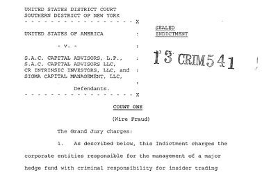 Full Text Of Grand Jury Indictment Of Sac Marketwatch Criminal Indictment Template