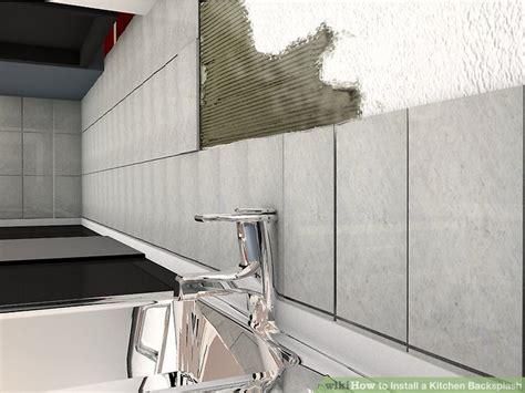 installing a kitchen backsplash how to install a kitchen backsplash with pictures wikihow