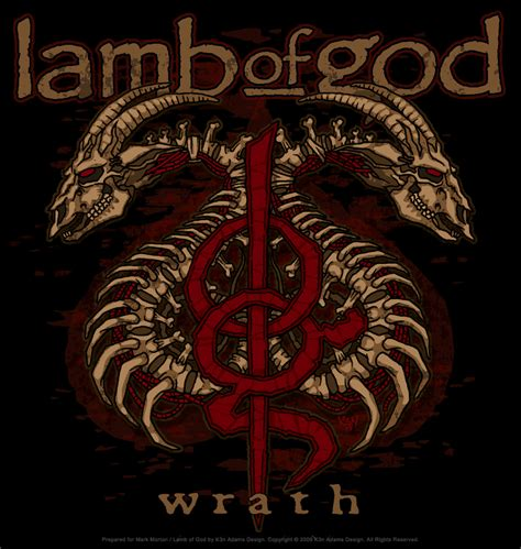 lamb of god tattoo designs tshirt design of god wrath tour