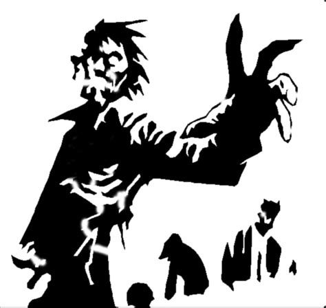 printable zombie stencils zombies stencils ive made pinterest