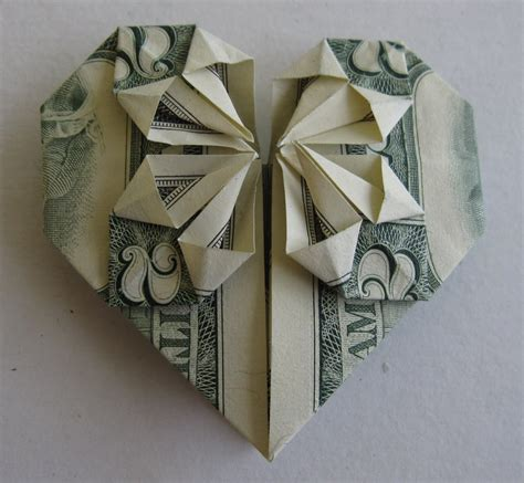 Money Origami Steps - shaped origami three wisdoms
