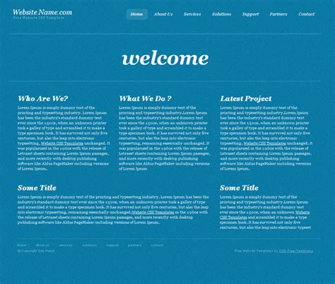 Simple Blue Website Css Template In Business Style Website Css Templates Simple Css Templates