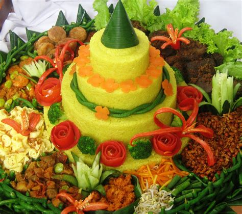 membuat nasi tumpeng your country famous delicacy food onehallyu